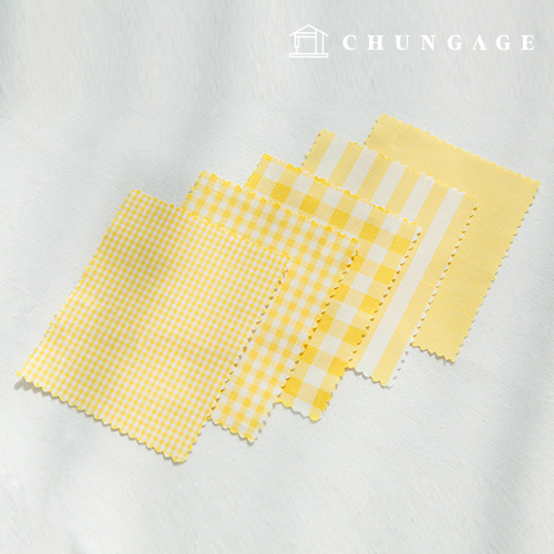 Cotton Check Fabric 20 Count Ombre Dyed Terminated Plain Stripe Gingham Check Fabric Yellow 5 types
