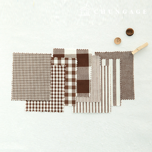 Cotton Check Fabric 20 Count Ombre Dyed Terminated Plain Stripe Gingham Check Fabric Brown 8 types