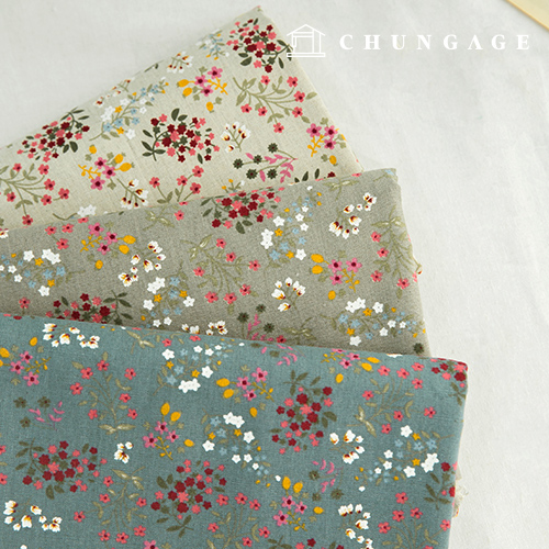 Linen 11-thick fabric, 3 types of candy flowers
