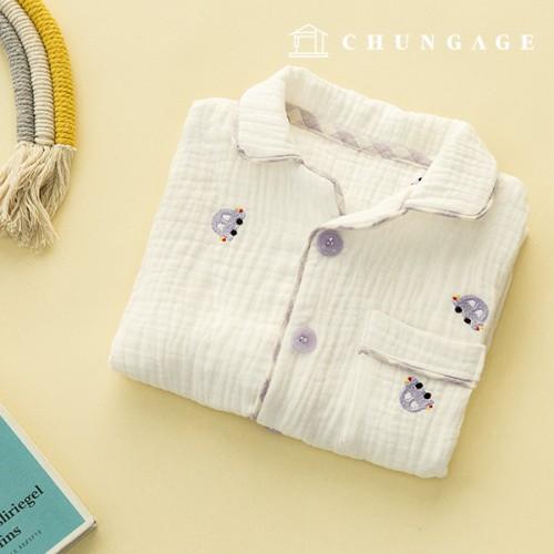 Triple Gauze Embroidery Yoru Fabric Cotton Non-Fluorescent Fabric Vroom E028